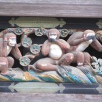 These 3 monkeys are famous carvings on Toshogu's buildings. You can see them on the left hand side as you walk up the main walkway.