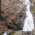 Waterfall in the hills nearby to Toshogu Shrine, in Nikko